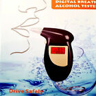 Digital Breath Alcohol Tester LCD Display Audible Alert plus 4 Extra Mouth Pcs
