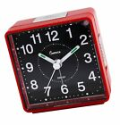 Impecca WAT2810R Travel Alarm Clock Sweep Movement Red