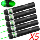 5 x 10Miles 532nm Tactical Green Laser Pointer Pen Visible Beam Hunting Star Cap