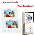 MOUNTAINONE 2 Apartment/Family Video Door Phone Intercom System 1 Doorbell