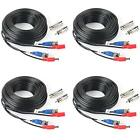 Shd 4Pack 33Feet Bnc Vedio Power Cable Pre-Made Al-In-One Camera Video Bnc Cable