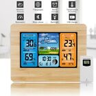 Color Wireless Weather Station Digital LCD Outdoor Indoor Thermometer Clock Lcd