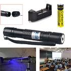 50Miles 405NM Blue Laser Pointer Lazer Pen Visible Beam Light + 18650 +Charger