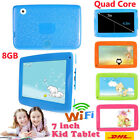 """7"""" inch HD WIFI Tablet PC Education Kids Android 4.4 KitKat Quad Core 8GB Camera"""