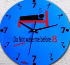 Clock Blue Decor Wall HomeUnique Wood clock Round 25cm Office Hall Bedroom New