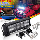 12Inch 72W Led Work Light Bar SPOT FLOOD Offroad Driving Fog Lamp For Jeep Truck