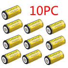 10x 3.7V Li-Ion Rechargeable Batteries Pack Kit for Security Camera Laser Torch