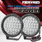2X 7inch LED Spot Driving Light Spotlights Offroad Lamp w/ DT Wiring Kit 12V 24V