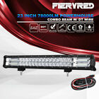 23 inch LED Light Bar Spot Flood Beam 5D Offroad Driving Lamps w/ DT Wiring Kit