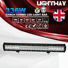 23 Inch Combo Beam 5D 336W 33600LM Led Light Bar w/ DT Wiring Kit Offroad Lights