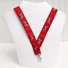 German Shorthaired Pointer Dog Breed Neck Lanyard for ID or Keys - Red