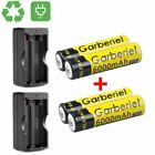 HeCloud 4 x 3.7V Li-ion 6000mAh 18650 Battery Rechargeable Batteries with 2x