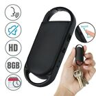 496 Hours 8GB Keychain Audio Spy Mini Voice Recorder Voice Activated Listening