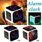 Colorful Light LED Spiderman Alarm Clock Thermometer Night Electronic Kids Toy