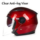 New ABS Jiekai 512 Motorcycle Helmets Open Face Helmet Unisex Anti-fog Visor FS