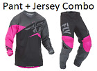 New 2019 Fly Racing F-16 Pant + Jersey combo Neon Pink/Black/Grey Adult