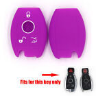 For E/C/CL/GL/SLK Class Smart Remote Key Purple Silicone Shell Case Fob Cover