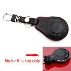 For 2007-2014 Cooper 3 Buttons Smart Remote Key Holder Cover Case Leather Black