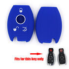 For Benz E/C/CL/GL/SLK Class Silicone Key Shell Smart Remote Key Case Fob Blue