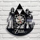 Zelda Game Art Vinyl Record Wall Clock Modern Birthday Gift Idea For Gamer