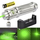 Powerful 532nm Laser Pointer Pen Green Zoomable Visible Beam Light 18650 Charger