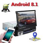 "Single 1 Din 7"" Android 8.1 Car GPS Flip Up Car Stereo Radio MP5 Player USB WiFi"