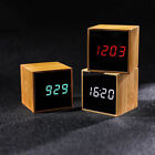 Creative LED Digital Alarm Clock Night Light Thermometer Display Mirror Lamp HQ