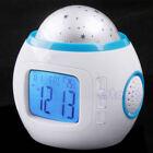 Music Starry Star Sky LED Projection Digital Alarm Clock Calendar Thermometer