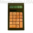 IMPECCA CB1203 12-Digits Bamboo Custom Carved Desktop Calculator - Walnut Color