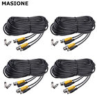 4PCS 50ft 100ft 150ft Security Camera Cable Video Power Cord BNC RCA CCTV DVR