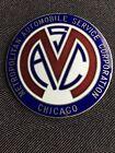 1910's-20's Metropolitan Automobile Service  Cloisonné Emblem Badge Original NOS