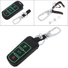 3 Colors 3 Buttons Hand Sewed 3D Leather Noctilucent Car Key Cover Protector