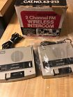 2-Realistic SELECTaCOM 43-213 Vintage 2 Channel FM Wireless Intercom System