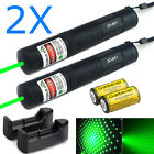 2X Military 532nm Green Laser Pointer Pen Tactical Lazer 2IN1 Visible Beam Light