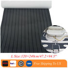L Size EVA Teak Decking Sheet For Boat Yacht Marine Flooring Mat Charcoal Grey