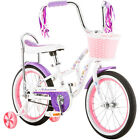 Girls 16 Inch Learning Training Wheels Kids Sidewalk Bike Basket Childrens