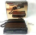 Vtg Tozai Hands Free Speaker Telephone AM/FM Alarm Clock Radio Brown TR-308