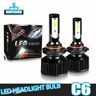 9005 HB3 LED Headlights Bulbs Kit High Beam 40W 3200LM 6000K White Headlamp
