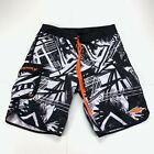 Slippery Boardshorts Cargo Pocket Swim Shorts All Over Print Size 32 Men's Surf