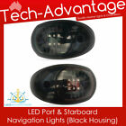 12V LED NAVIGATION LIGHTS BOAT PORT & STARBOARD - BLACK
