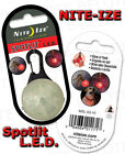 Nite Ize Spotlit Red LED Black Gate Carabiner MSL-03-10