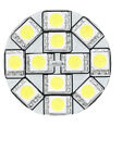 """AUTO MARINE RV TRAILER PART REPLACEMENT LED BULB G4 WARM WHITE BACK PIN 1.2""""D"""