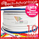 1 METRE 10AMP MARINE-GRADE BOAT TINNED TWIN-CORE WIRING - SUITABLE 4 LED LIGHTS