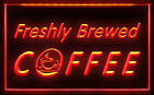 CC022 B OPEN Freshly Brewed Coffee Cafe Shop Light Sign