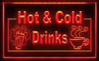 CC032 B OPEN Hot & Cold  Coffee Cafe Light Signs