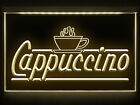 CC037 B OPEN Cappuccino Coffee Cafe LED Light Sign
