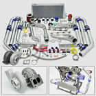 T4 GT45 18PC TURBO CHARGER KIT MANIFOLD+CROSS PIPE 79-93 FORD MUSTANG 5.0L V8