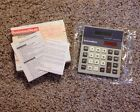VINTAGE BUSINESS WEEK MAGAZINE PROMO DUAL POWER CALCULATOR NEW NOS RARE WORKS!!!