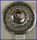 """1985 85 CADILLAC FWD 14"""" WIRE TYPE HUBCAP ROCKWELL DESIGN GOOD USED 1624052 2047"""
