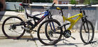 2 Diff. older bike Mongoose Bicycles Blue & Yellow Ballistic XR250 & D Series